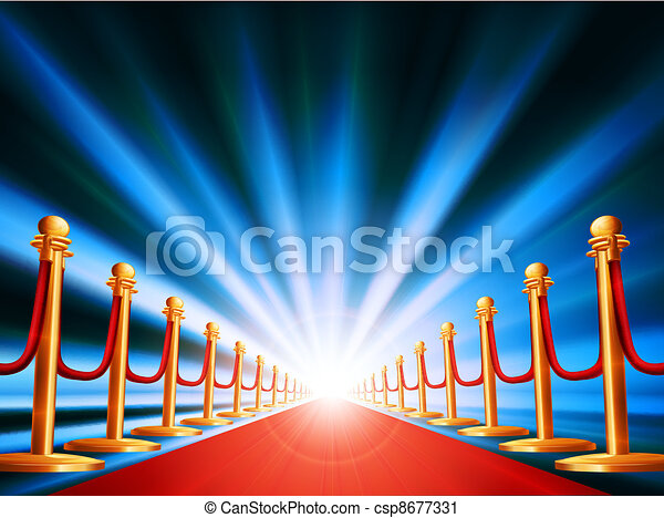 Red carpet entrance - csp8677331