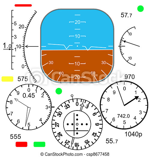 Control panel in a plane cockpit - csp8677458