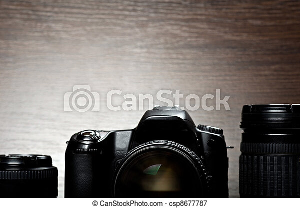 Digital camera and lenses - csp8677787