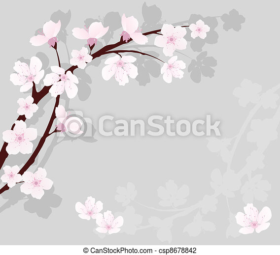 vector cherry branch - csp8678842