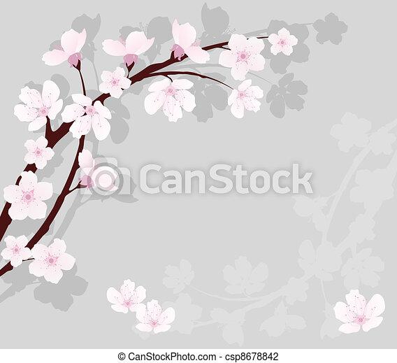vector cherry branch - csp8678842