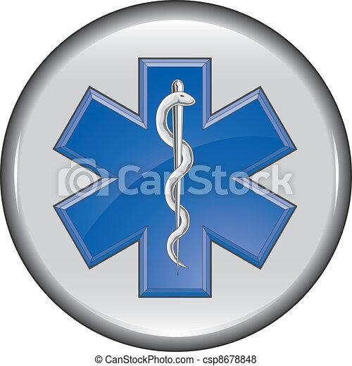 Rescue Paramedic Medical Button - csp8678848