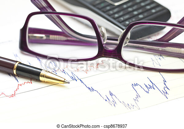 Stock charts and financial accounting - csp8678937