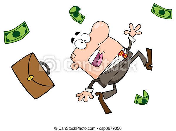 Failed Businessman Goes Down - csp8679056