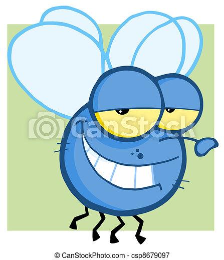 Fly Cartoon Character - csp8679097