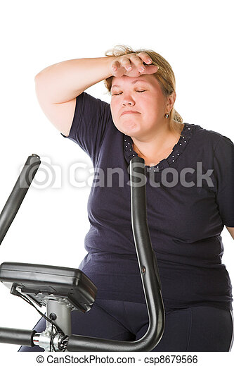 tired fat woman - csp8679566