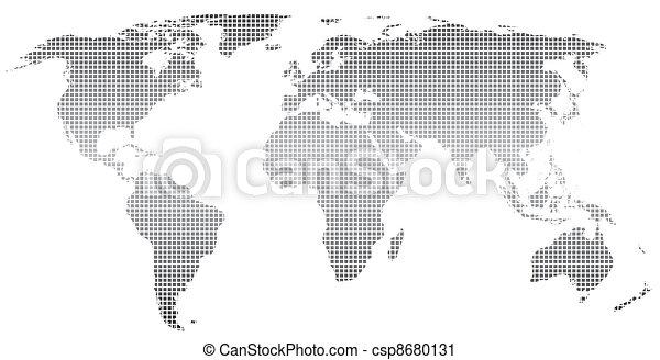 Stylized world map   - csp8680131