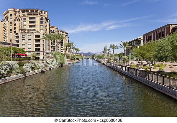 Scottsdale Arizona Waterfront Distr - csp8680406
