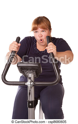 tired fat woman - csp8680605