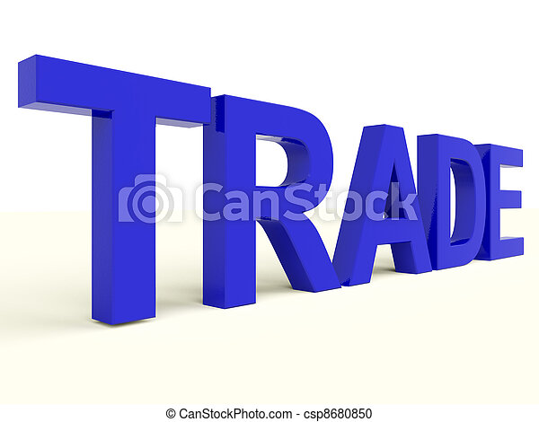 Trade Word Representing Import Export And Business - csp8680850