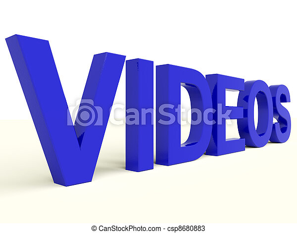 Videos Word In Blue Showing Dvd Or Multimedia - csp8680883