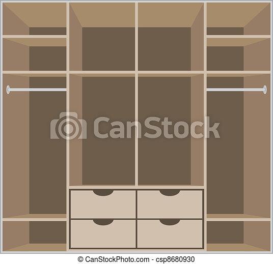Wardrobe room. Furniture - csp8680930
