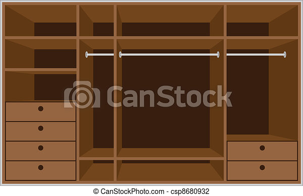 Wardrobe room. Furniture - csp8680932