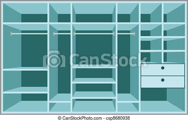 Wardrobe room. Furniture - csp8680938