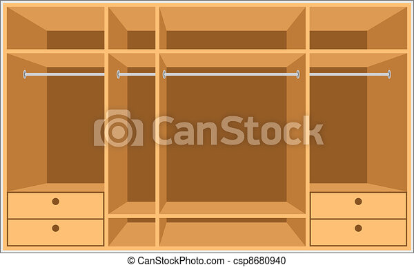 Vector Clipart Of Wardrobe Room Furniture Vector