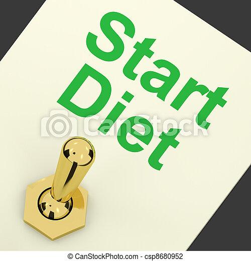 Start Diet Switch Shows Dieting Or Slimming Beginning - csp8680952
