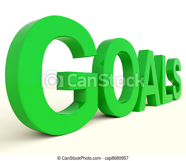 Goals Word Showing Objectives Hope And Future - csp8680957