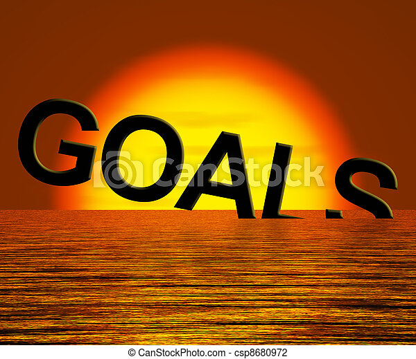 Goals Word Sinking Showing Problem Reaching The Goal - csp8680972