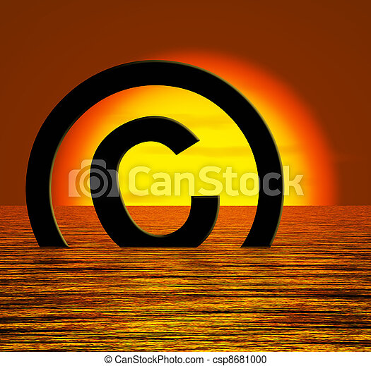 Copyright Symbol Sinking Meaning Piracy Or Infringement - csp8681000