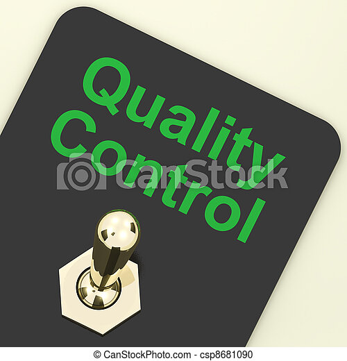 Quality Control Switch Showing Satisfaction And Perfection - csp8681090