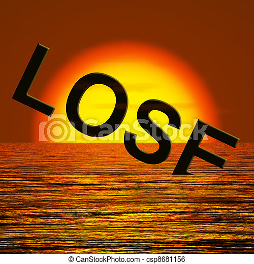 Lose Word Sinking Representing Defeat And Loss - csp8681156