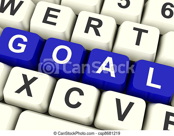 Goals Computer Keys Showing Objectives Hope And Future - csp8681219