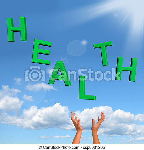 Catching Health Word Showing A Healthy Condition - csp8681265