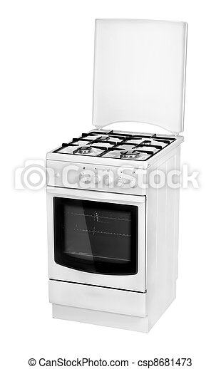 White gas cooker isolated - csp8681473