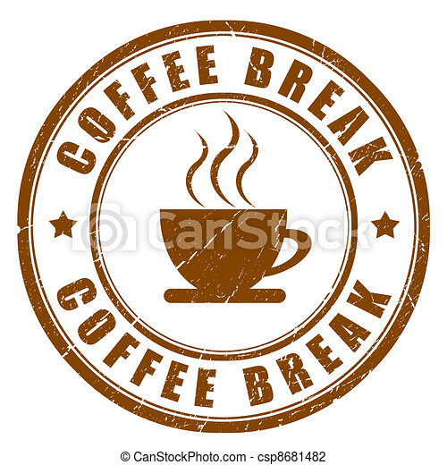 Coffee break sign - csp8681482