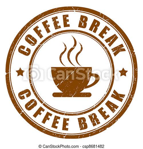 Coffee break sign - csp8681482