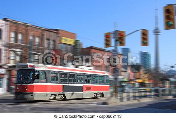 Toronto streetcar transportation - csp8682113