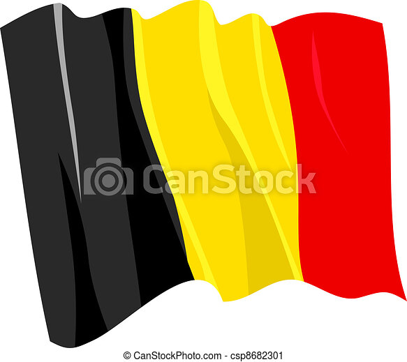 Political waving flag of Belgium - csp8682301