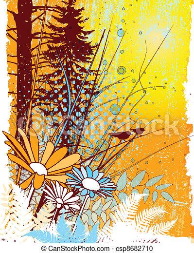 Natural Collage - csp8682710