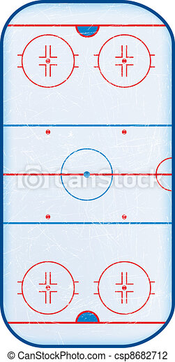 Top view of hockey rink. - csp8682712