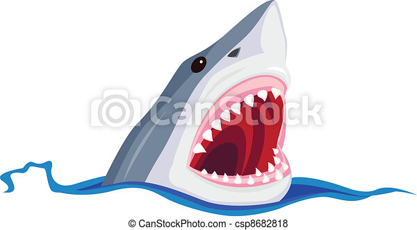 Angry Shark - csp8682818