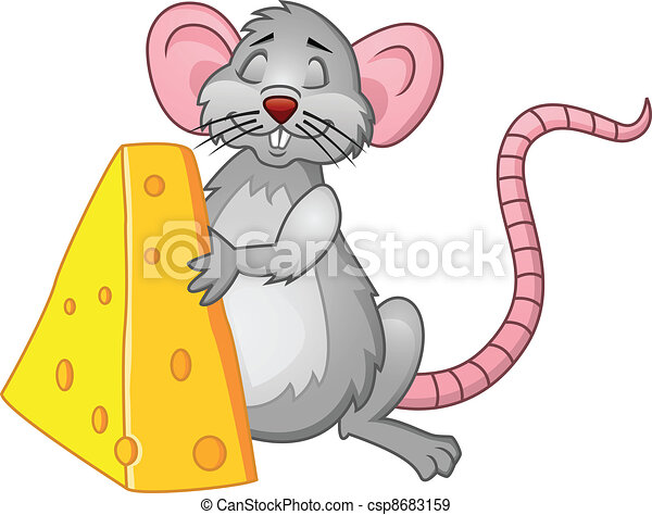 Funny rat with cheese - csp8683159