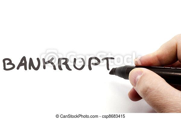Bankrupt hand writing - csp8683415