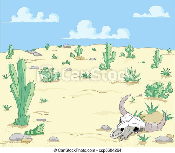 Desert Landscape - csp8684264
