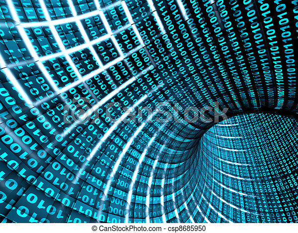 3d abstract tunnel - csp8685950