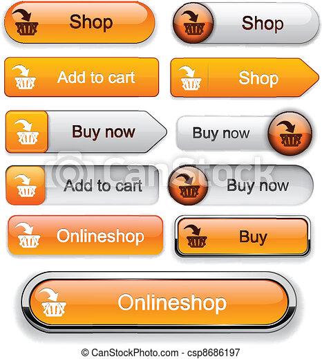 Add to cart high-detailed modern buttons. - csp8686197