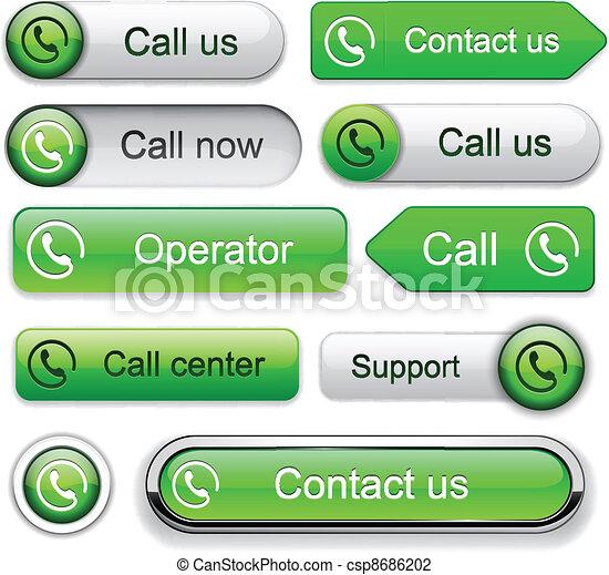 Call high-detailed modern buttons. - csp8686202