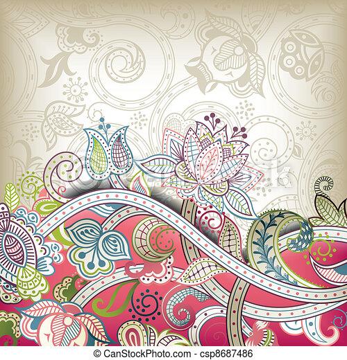 Asia Wedding Invitation Card - csp8687486