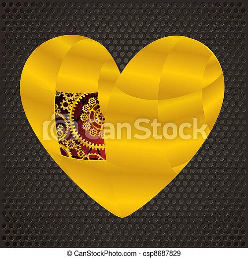 Mechanical heart of gold - csp8687829