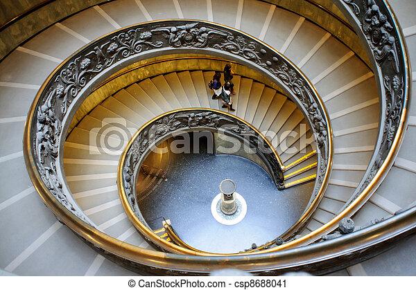 escaleras vaticano espiral roma csp
