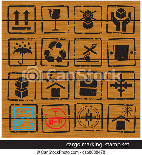 cargo marking stamp set - csp8688478