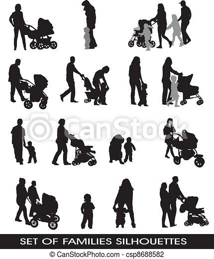 families, parents and children - csp8688582
