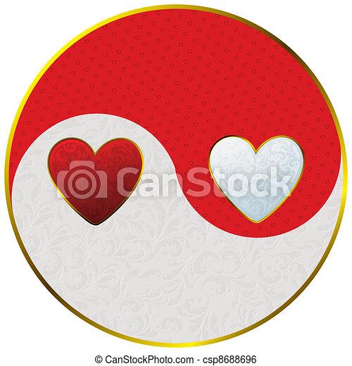 yin yang as hearts - csp8688696