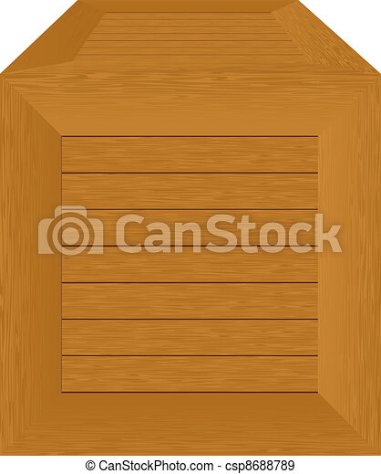 wooden container - csp8688789