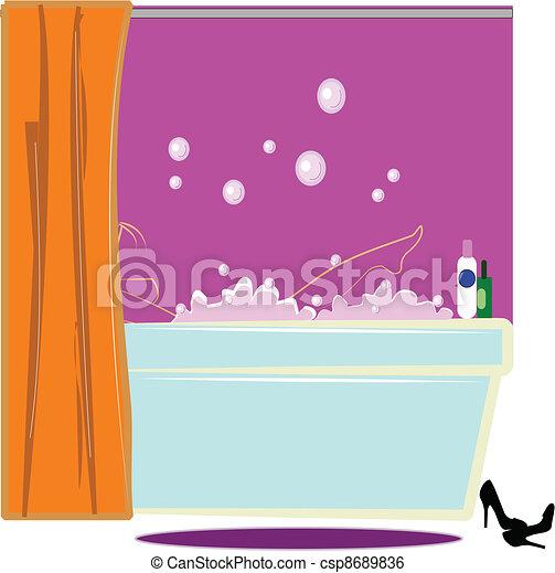 lady in bath - csp8689836