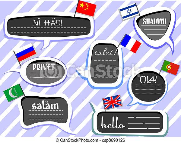 Different Language Greetings - csp8690126